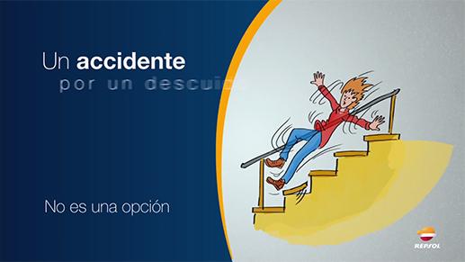 Caída en la escalera / REPSOL